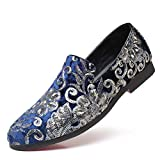 Men's Casual Shoes Large Size Fashion Flower Sequins Casual Loafers Round Head Men's...