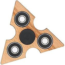 Anself Fidget Spinner de Madera, Spinner Toy para Prácticas de Sensores Atenciones Destrezas de Dedos, Juego para Niños Jóvenes Adultos