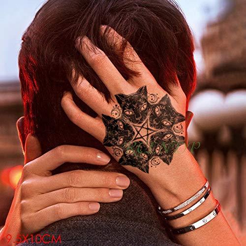 Ljmljm 5pcs autoadesivo del tatuaggio impermeabile aquila ala tatto tatoo mano braccio medio formato tatuaggi d'arte per ragazzo donna menou cachi scuro 9.5x14