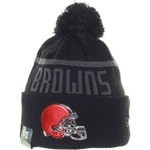 New Era ISG 17 Black Collection Bob Knit Beanie One Size Cleveland Browns (Herren Bekleidung Browns Cleveland)