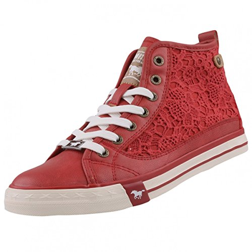 Mustang 1146-507-5, Sneakers Hautes Femme Rot (5 rot)