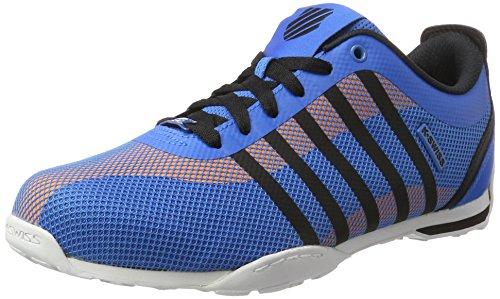 Wht Blk Herren Sneakers (K-Swiss Herren Arvee 1.5 Tech Sneakers, Weiß(BrilliantBlue/Blk/Wht), 45 EU)