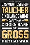 Das Wichtigste Für Taucher Sind Lange Arme Damit Er Zeigen Kann Wie Gross Der Hai War: DIN A5...