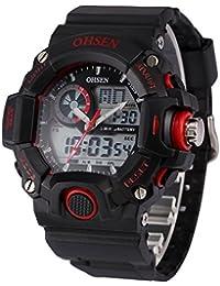 AMPM24 OHS219 - Reloj para hombres, correa de silicona color negro