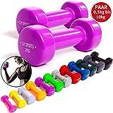 C.P. Sports gymnastiekhalters 0,5-0,75-1,0-1,5-2,0-2,5-3,0-4,0-5,0-6,0-8,0-10 kg - paar dumbbells, vinyl halters, gewichten, fitness