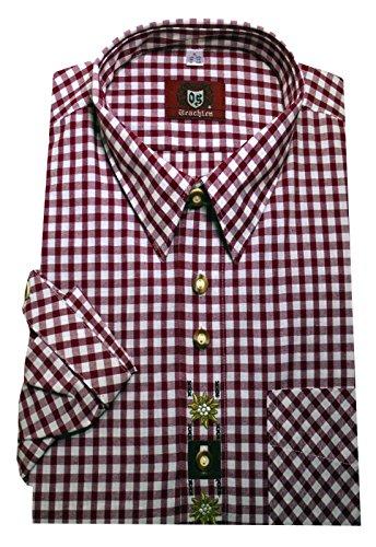 Kentkragenhemd weiß-rot XXXL