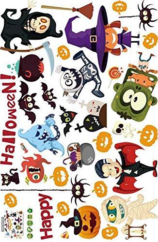 Wisdom Halloween Dekoration Aufkleber Spaß Spaß Halloween Happy Wall Decals Abnehmbare Bat Hexe Elf Aufkleber,Wie Zeigen,60 * 90 cm