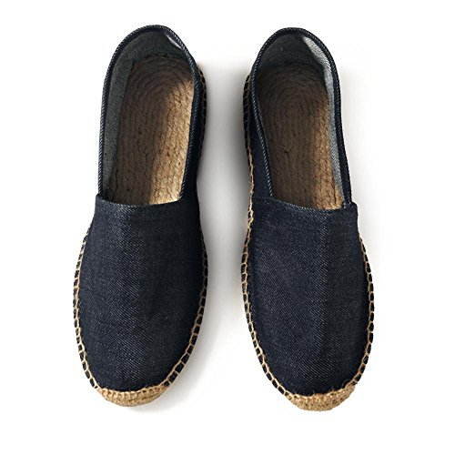 B&C - Herren Sommerschuhe 'Denim Espadrille' / Deep Blue Denim, 43