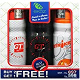 Ekoz Gt White,Gt Rouge & Strike Homme Deodorant- 200 Ml Each( Set Of 3)