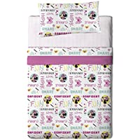 Disney Juego Sábanas para Cama Diseño Minnie, Algodón-Poliéster, Multicolor, Individual, 200x90x25 cm, 3 Unidades