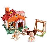 ZOKEO Puzzle 3D légère Maison Blocs Jeu assemblé Jouets Enfant Music House, électrique Dollhouse d'apprentissage Starlight 74 Pcs