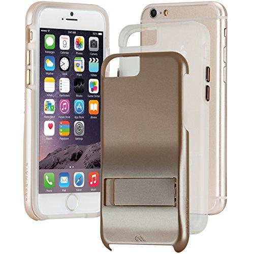 Case-Mate Tough Stand Schutzhülle für Apple iPhone 6 / 6S [Standfunktion | Extrem robust | Stoßabsorbierend | Soft-Touch Beschichtung | Hybrid | Tasten in Metall Optik] - CM033614 (6 Case-mate Von Case Iphone)