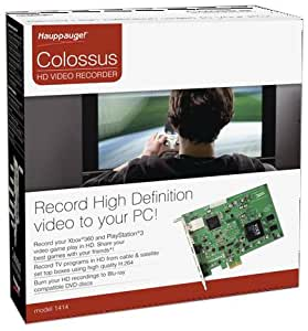 Hauppauge Colossus: Internal PCIe HD PVR. Hi-Def Video Capture Device with Hardware H.264 Video Encoders & HDMI in