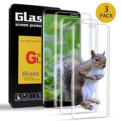 [3 Stück]Panzerglas Schutzfolie für Samsung Galaxy S8,Jwlife Displayschutzfolie für Samsung Galaxy S8 9H Härte,Kratzfest,Blasenfreie Installation,Anti-Öl und Fingerabdruck