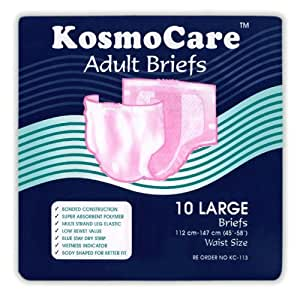 KosmoCare Adult Diapers - 10 Count (Large)