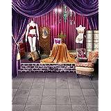 A.Monamour Wedding Showers Photography Backdrops Drapes Brick Stage Floor Studio Props 5x7ft Vinyl