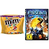 M&M's Peanut, 1 kg Beutel + Pixels DVD