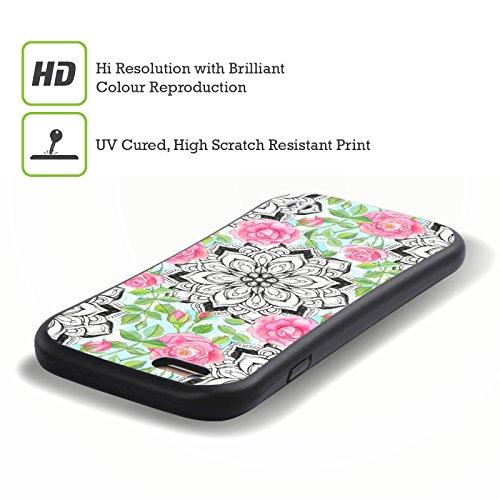 Ufficiale Micklyn Le Feuvre Cubi Esagonali Pattern 6 Case Ibrida per Apple iPhone 6 Plus / 6s Plus Rose E Mandala