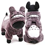 PAWZ Road Pet Halloween Cat Costume Dog Cosplay Puppy Clothes Kitten Hoodie Grey S