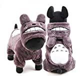 PAWZ Road Pet Halloween Cat Costume Dog Cosplay Puppy Clothes Kitten Hoodie Grey M