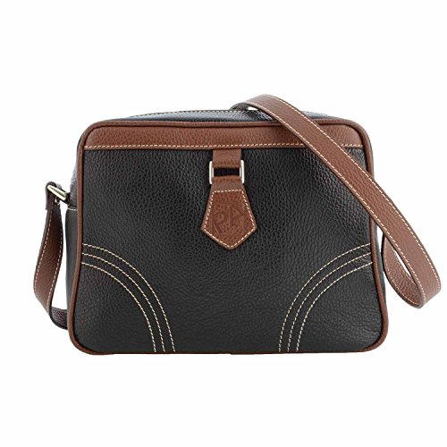 Borsa in pelle Quadrato NEGRO/MARRON