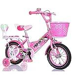 Bicyclehx Training Wheels Kickstand Kind Geschenk Kid Bike Kinder Fahrrad All-Terrain Boys Bike für energetische Kids in 12/14/16/18 Zoll (Color : Pink, Größe : 14 inch)