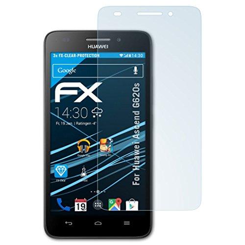 atFolix Schutzfolie kompatibel mit Huawei Ascend G620s Folie, ultraklare FX Bildschirmschutzfolie (3X)