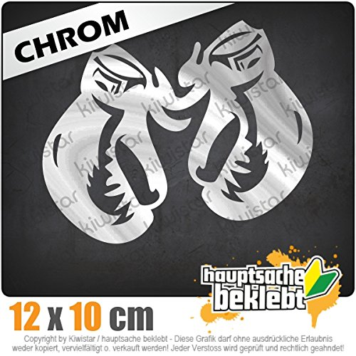 Boxhandschuhe 13 x 11 cm IN 15 FARBEN - Neon + Chrom! Sticker Aufkleber (Kicker-auto-aufkleber)