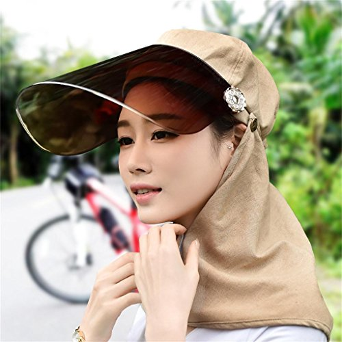 LIXIONG Sun Hat He Covered His Face Female Summer Sun Hat Neck Protection Cap Spring And Summer Sun UV Sun Hat Riding A Cable Car Outdoor Living Hat