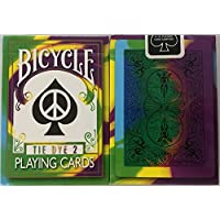 2nd Edition Rare Bicycle Tie Dye 2 Deck Playing Cards Tye Die Magic cartes à jouer