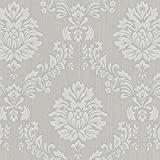 Cheapest SALE Graham & Brown Costello Damask Grey/White Wallpaper Was £20 Now £8 on