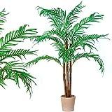 "Kunstpflanze ""Kokospalme"" mit Echtholzstamm Kunstpalme 160cm groß Kunstbaum"
