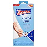 Spontex Extra 100 Fuanti Fini Usa e Getta, Confezione da 100