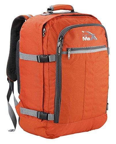 Cabin Max - Sac à dos et bagage à mains pour cabine- capacité brute de 44l (Orange)