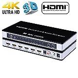 HDMI Switch Splitter Audio Extractor 4K x 2K HDMI/MHL 5x1 with IR Wireless