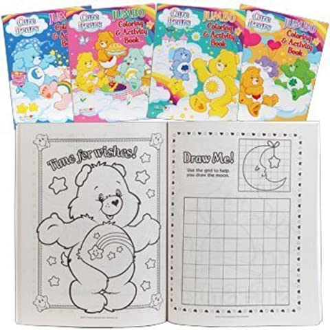 Care Bears Jumbo Coloring & Activity Books - Set of 4 by American Greeting - Jumbo Care Bears