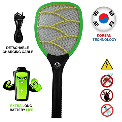 Viola Heavy Duty Mosquito Bat Rechargeable with LED Torch (with Warranty)