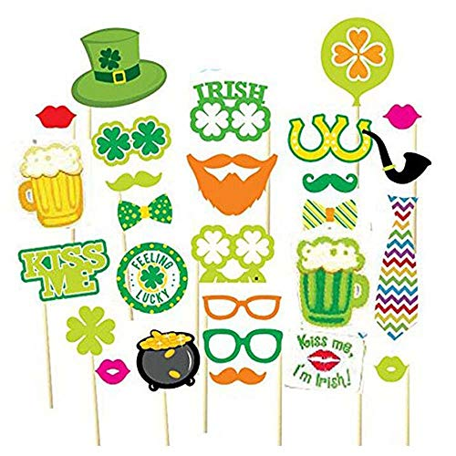 ANLW St. Patrick es Carnival Clover 29 Piece Set Photo Props St.Patrick ' s Day Ireland