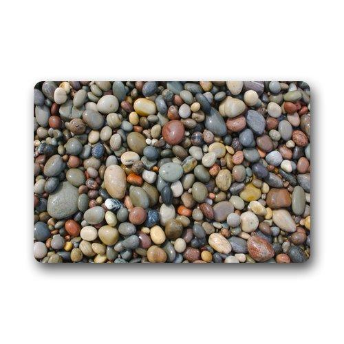 KLing Pebble Stone Machine Waschbar Stoff Rutschfeste Gummiunterlage Indoor/Outdoor Fußmatte Indoor/Outdoor Bodenmatte, x Dekormatte Teppiche 16 x 24,40 cm x 60 cm