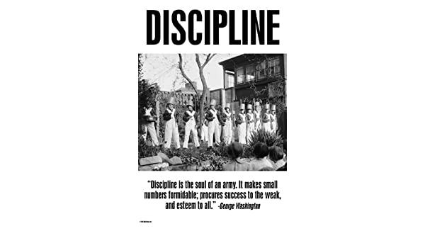Discipline The Soul Of An Army George Washington 18x27 Paper