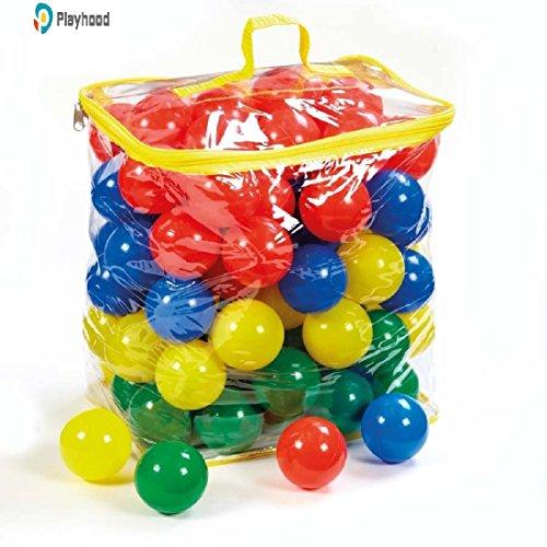 PLAYHOOD PVC Fun Big Size Colourful Balls, 8cm (Multicolour) - Set of 100
