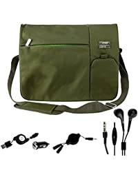 """Tote Sling Messenger Pack Briefcase Bag For Microsoft Notebook Surface / Surface Book 13.5"""" Combo With Micro USB..."""