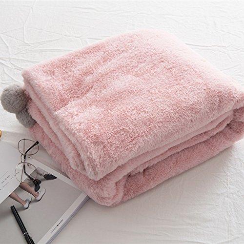 te weiche komfortable Sommer Klimaanlage Quilt handgemachte Sommer leichte gestrickte Decke, waschbar 1 Stück,Reine Farbe handgemachte Wolle Ball Decke 100cmx155cm, 100cmx155cm, Beige (übergroße Strand Bälle)