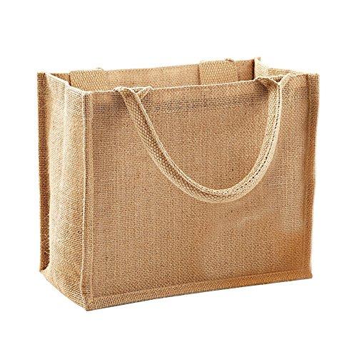 Westford Mill Jute-Tasche / Jute-Mini-Geschenktasche, 6 Liter (One Size) (Natur) -