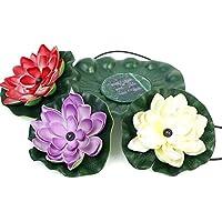 SuperLED-Lampadine a energia solare, motivo: fiore di loto-Power LED light