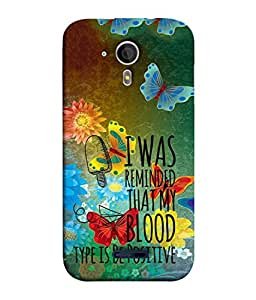 PrintVisa Designer Back Case Cover for Micromax Magnus A117 (blood type is be positive)