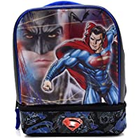 Preisvergleich für Batman Vs Superman Dual-Compartment Childrens Kids Boys Girls Insulated Lunch Box School Picnic Bag by Disney