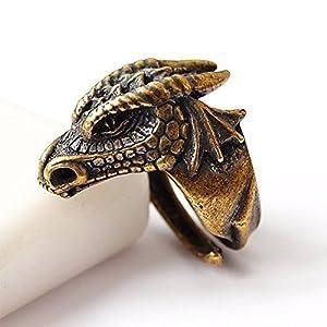 Drachen kopf Messing ring