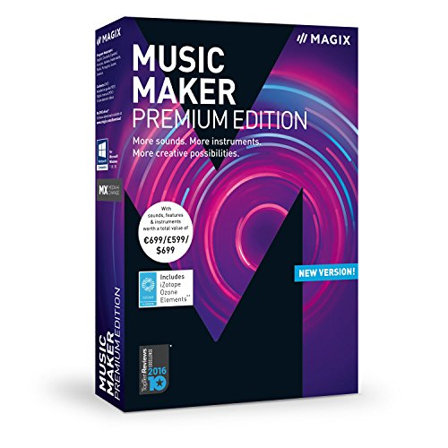 Music Maker – 2018 Premium Edition – The audio software with more sounds, instruments and creative options