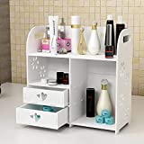 Lonzer Storage Box Desktop storage box drawer makeup box dressing table skin care storage rack vanity rack (Size : B) for Women (Size : A)